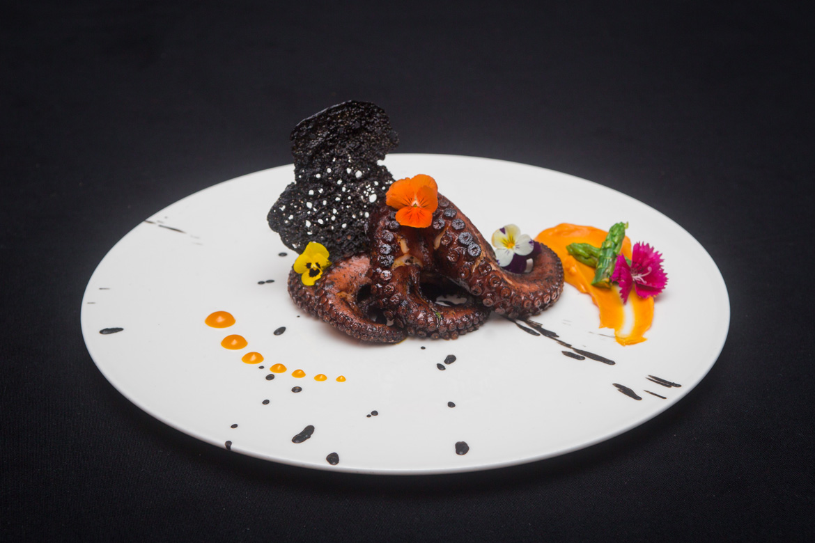 Stunning octopus dish captured by the professional food photographers at Adventure Photos