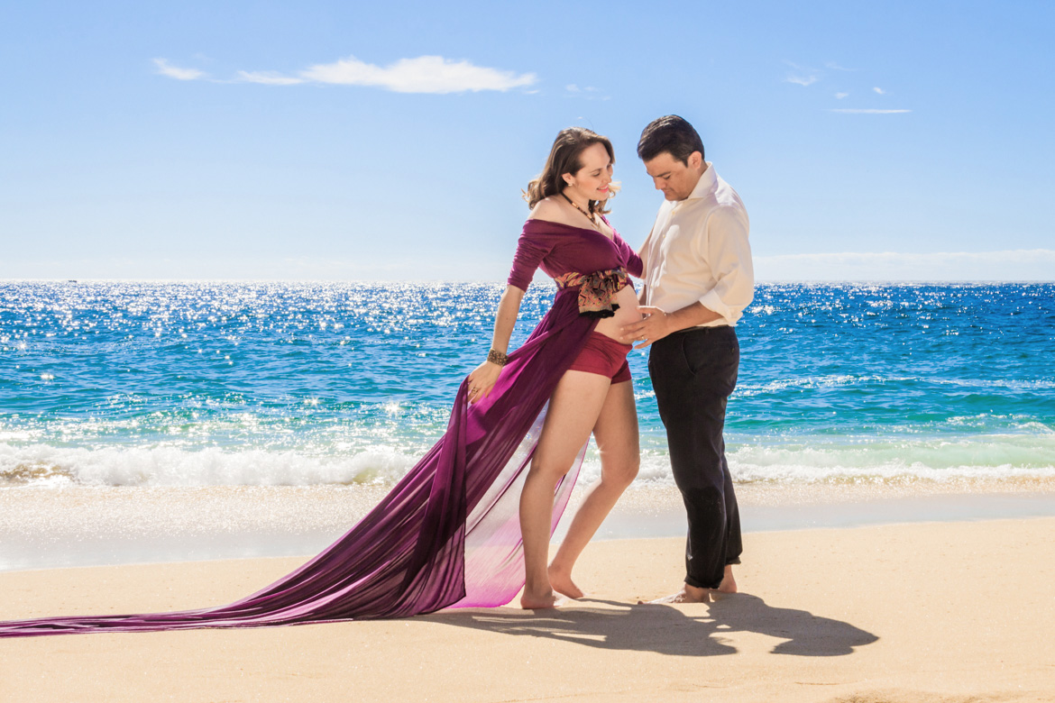 Couples Maternity Photo Session in Cabo with Adventure Photos