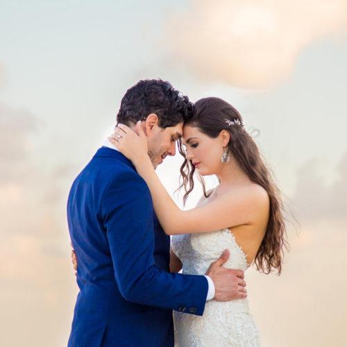Whimsical bridal portrait at destination wedding captured by Adventure Photos