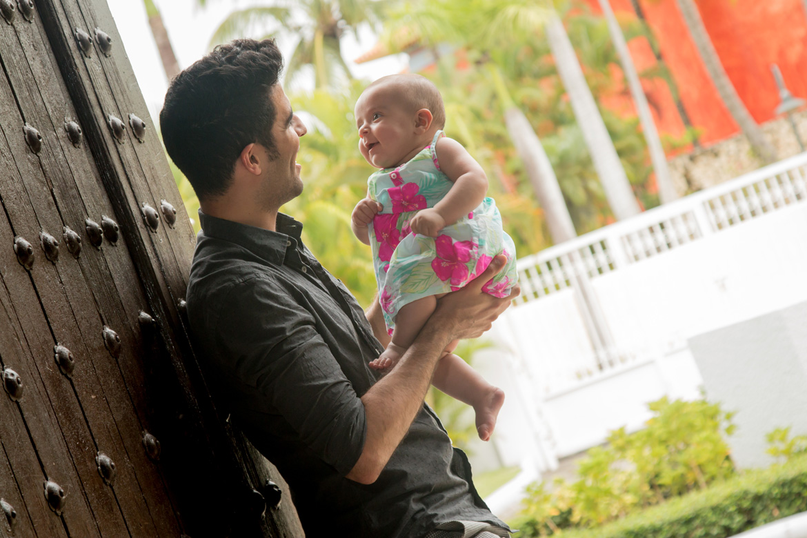 Father daughter portrait photography in Dominican Republic