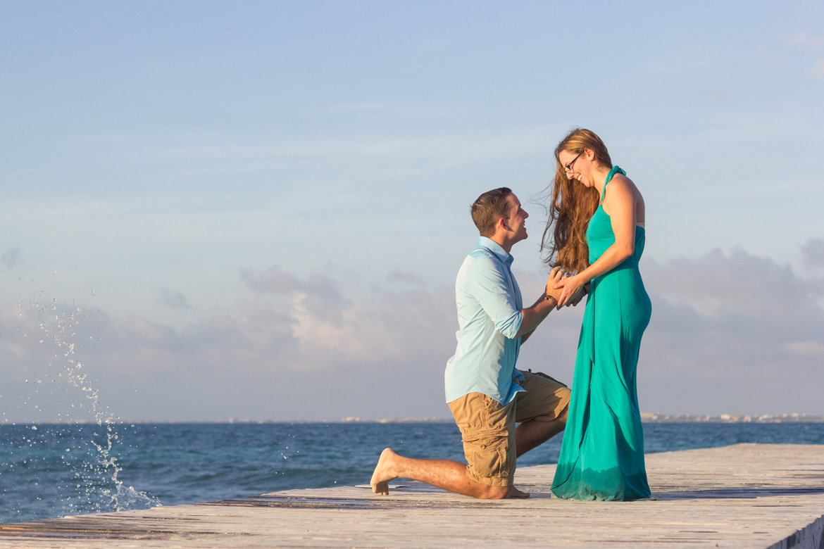 Engagement Photo on Cancun Vacation by Adventure Photos