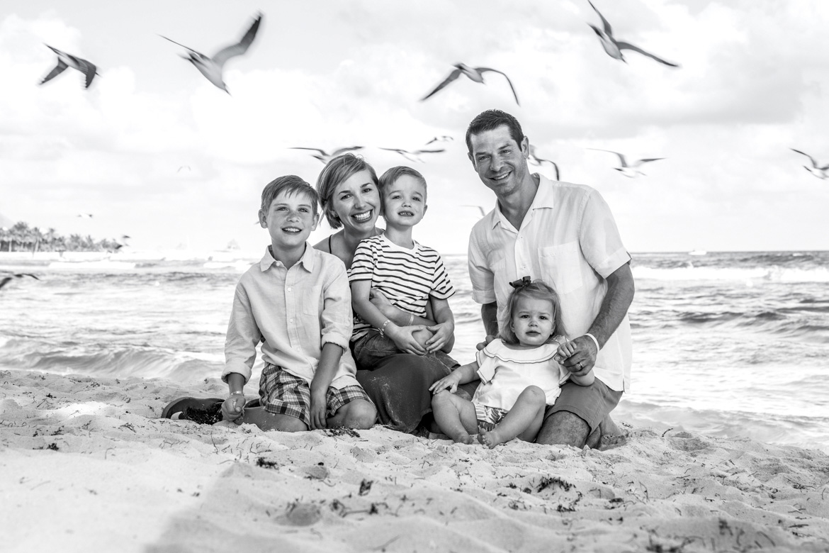 Family beach portraits by Adventure Photos