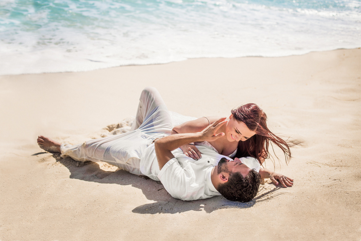Engagement Photo Shoot on Cancun Beach by Adventure Photos