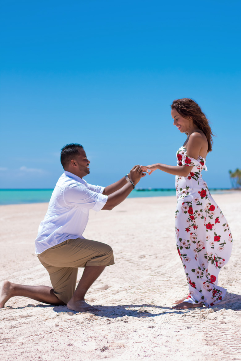 Proposal at Secrets Cap Cana - Engagement Photography by Adventure Photos