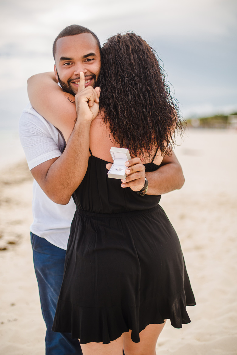 Engagement Photography for Proposal in the Riviera Maya