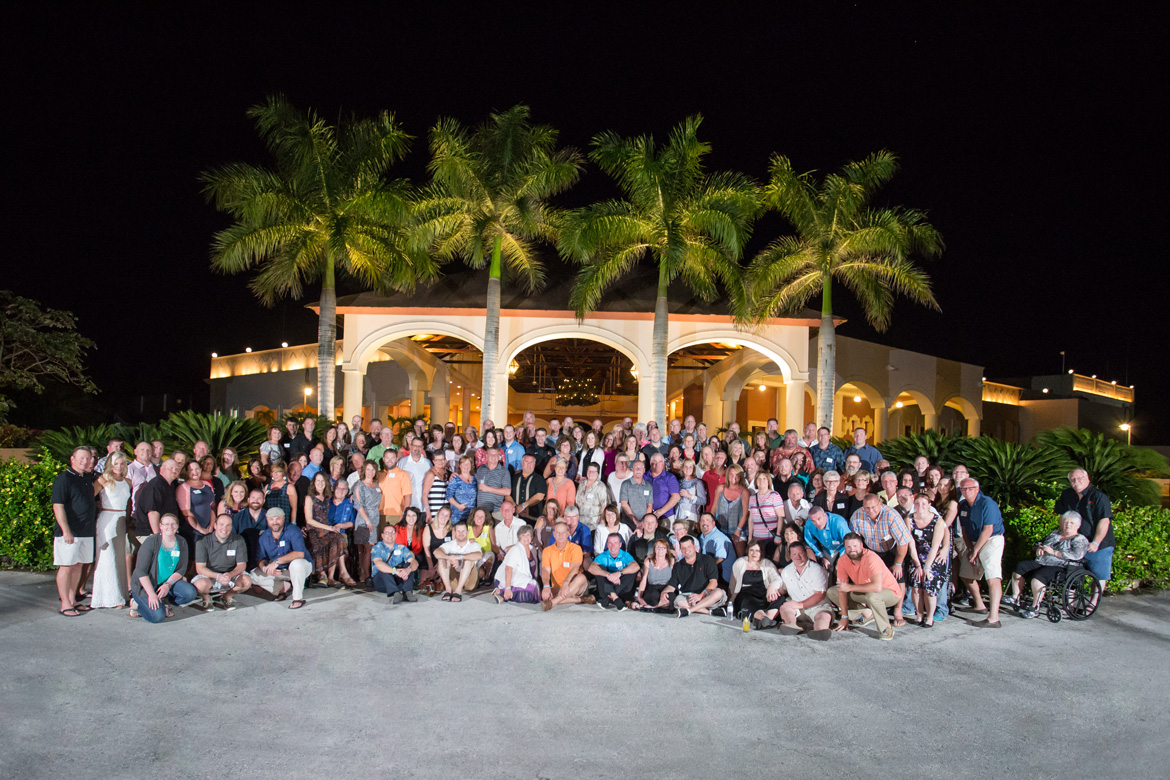 Large group photographed captured by event photographers at Adventure Photos