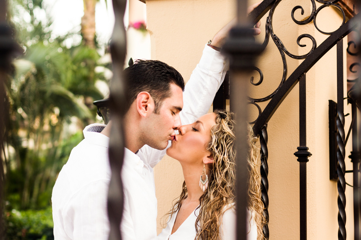 Couples photography session at resort in Puerto Vallarta
