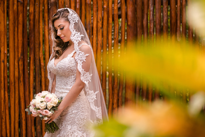 Bridal portrait photographed with a traditional photography style for a destination wedding