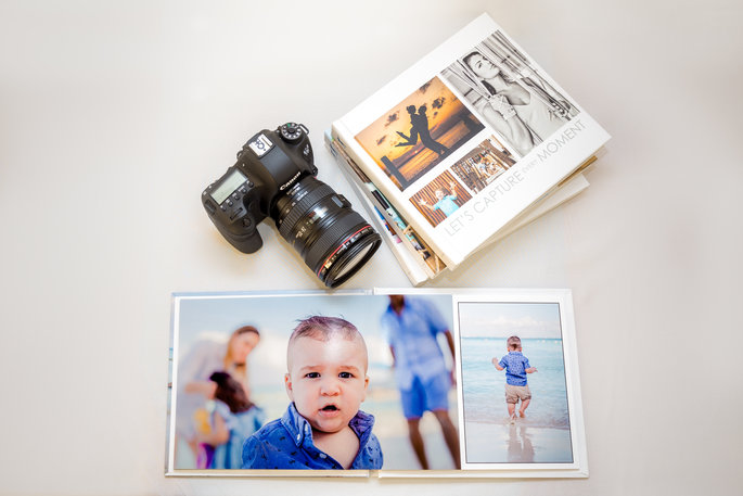 Travel photo album of family vacation photographed and printed by Adventure Photos