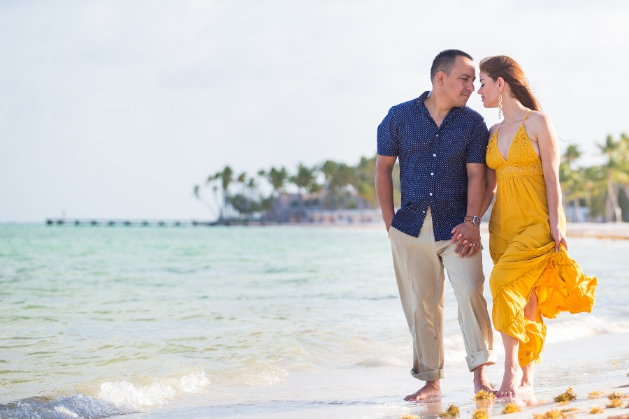 Beach Couples Photo Session at Secrets Resorts & Spas by Adventure Photos