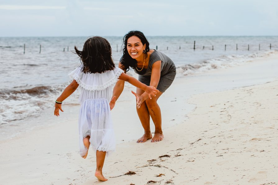 Mother & Daughter Lifestyle Photo Shoot on the Beach by Adventure Photos