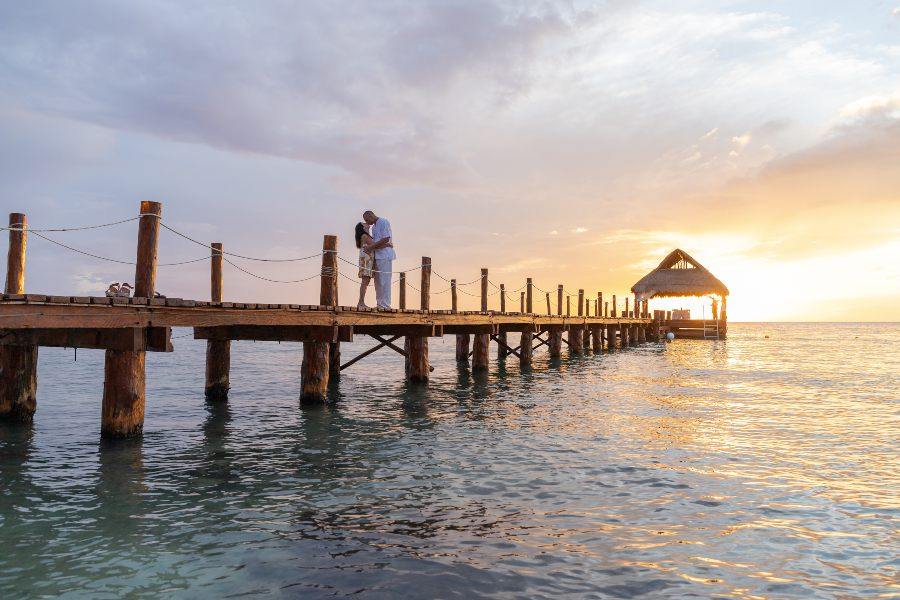 Romantic Couples Photo Shoot at Secrets Resorts & Spa by Adventure Photos