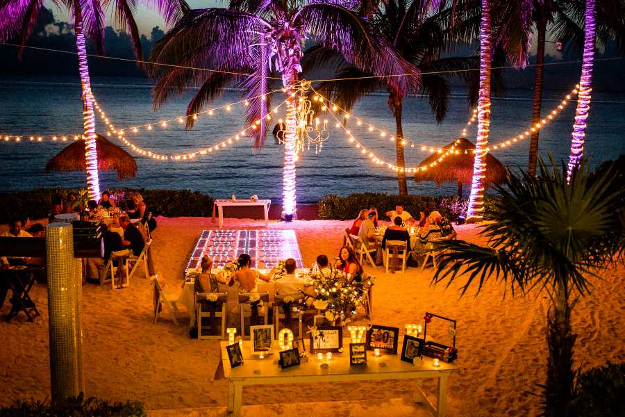 Wedding Reception at Secrets Resorts - Photography by Adventure Photos