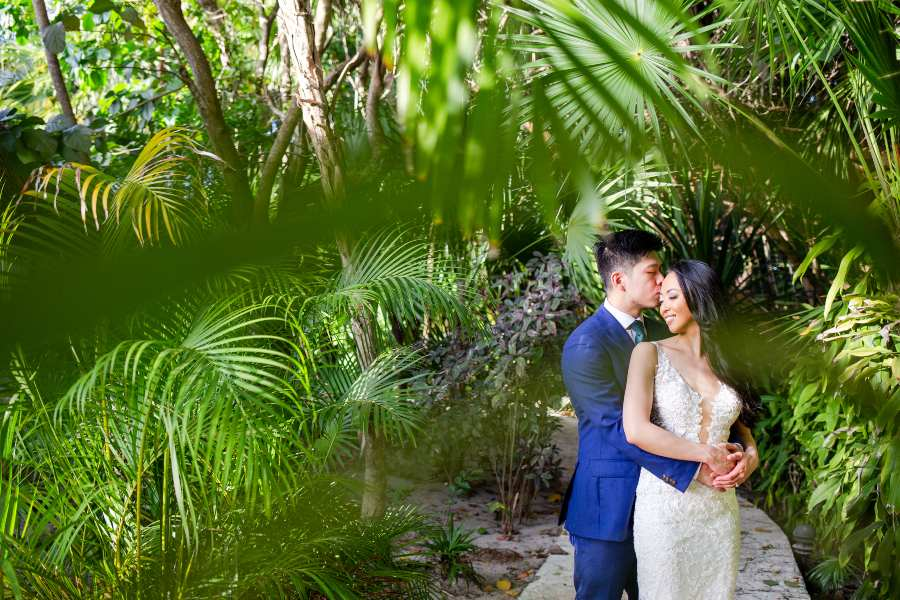 Bride and Groom at Destination Wedding on Now Resort Photographed by Adventure Photos