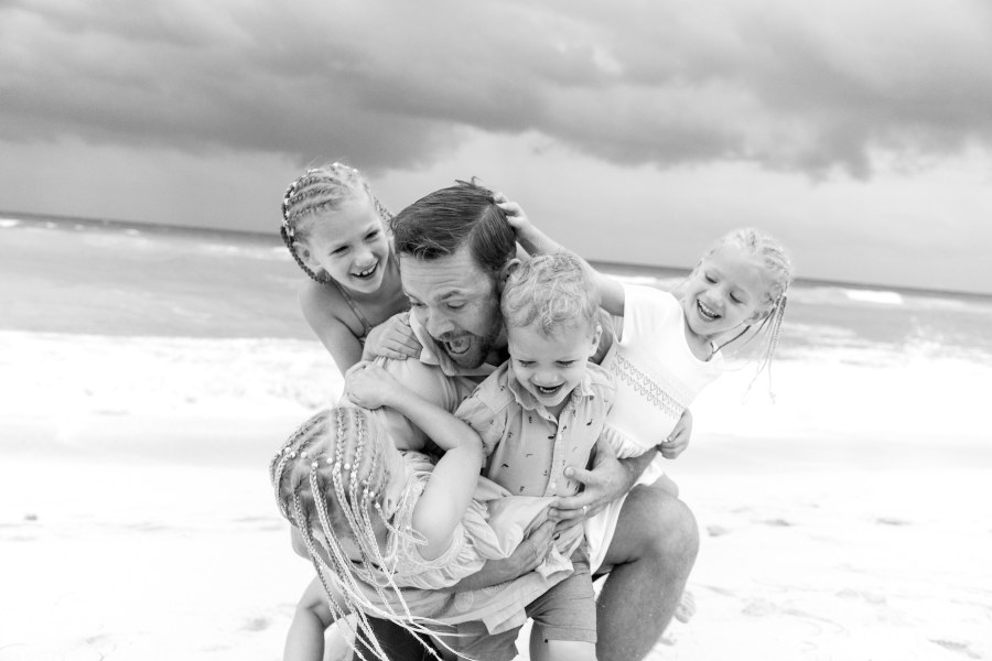 Family Photo Session During Vacation to Now Resorts Captured by Adventure Photos