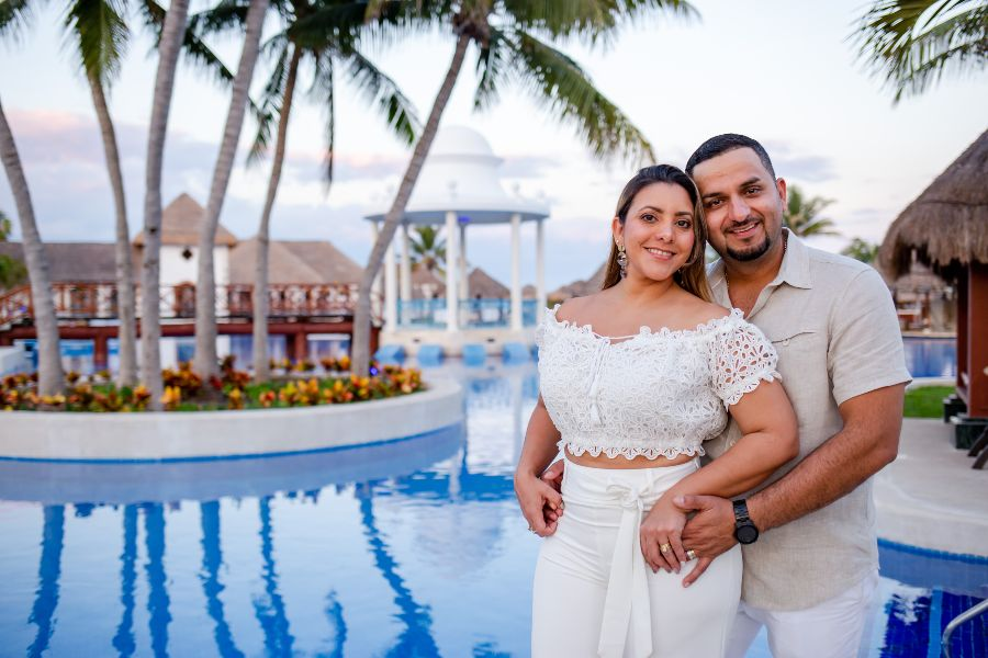 Couple Being Photographed at Now Resort by Adventure Photos