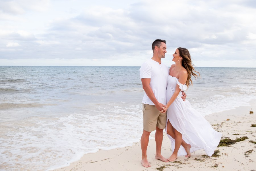 Beach Engagement Session by On-Site Photographers at NOW Resorts & Spas - Adventure Photos