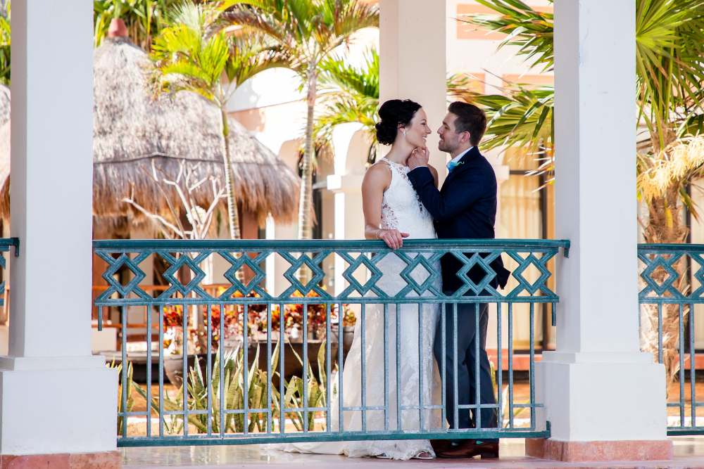 Portrait of Bride and Groom During Destination Wedding at Now Resorts Photographed by Adventure Photos