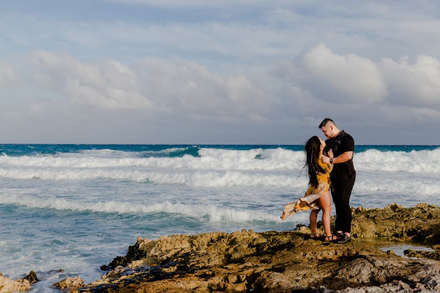 Couple Photographed During Romantic Vacation to Sunscape Resort & Spa by Adventure Photos