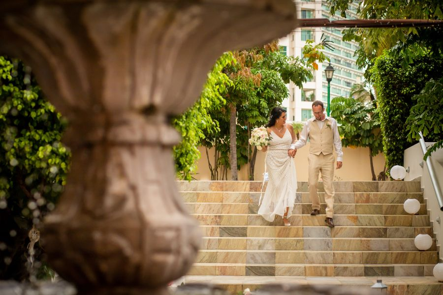 Bride and Groom at Destination Wedding at Sunscape Resort & Spa Photographed by Adventure Photos