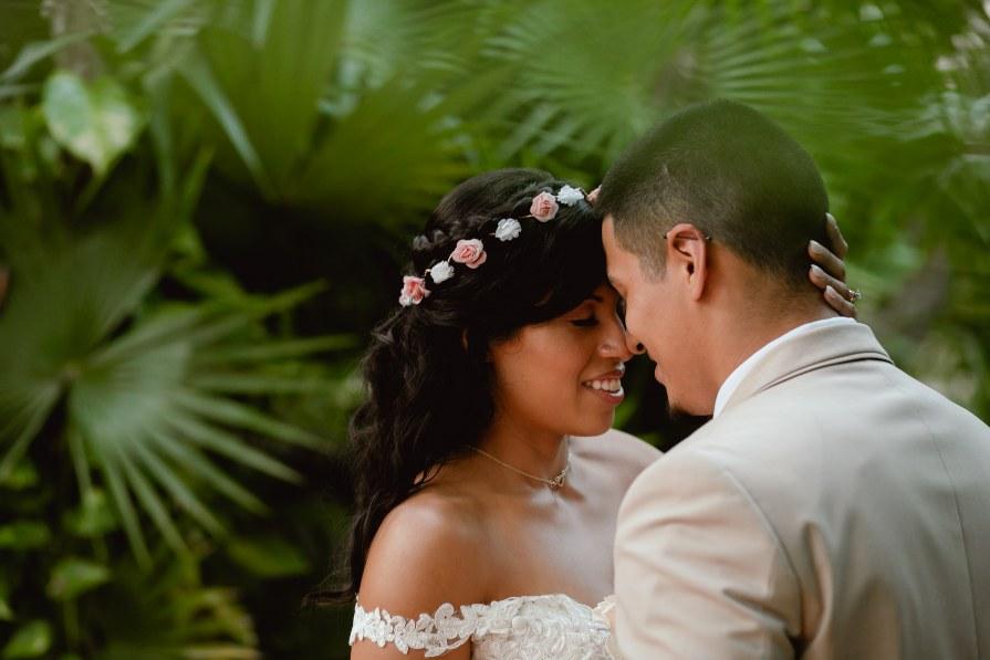 Romantic bridal portrait captured during destination wedding