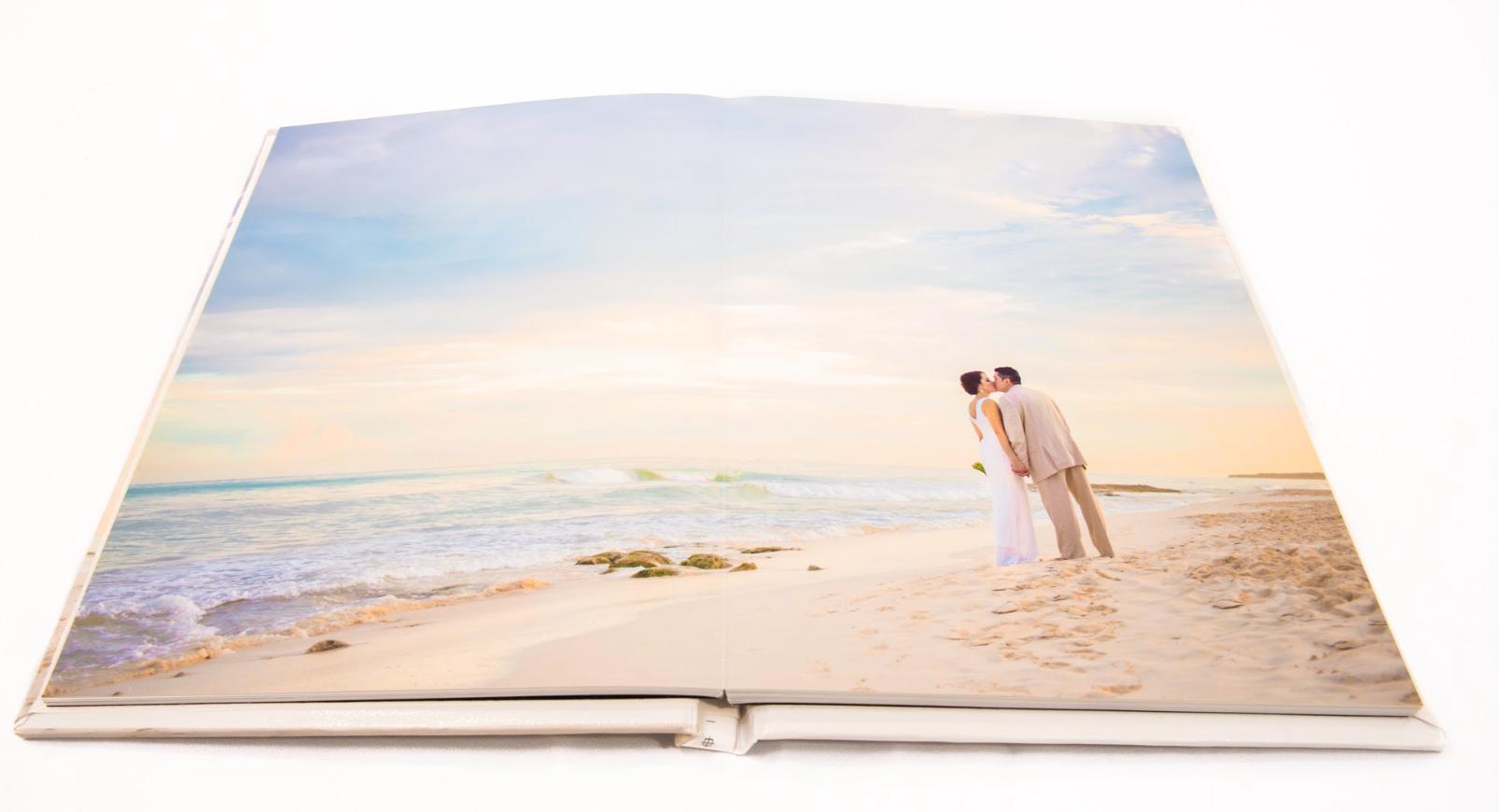 Luxury wedding photo album created by Adventure Photos