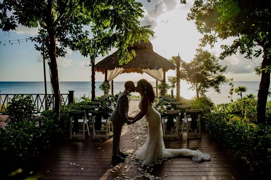 Sunset Photo at Destination Wedding Venue in Cozumel Captured by Adventure Photos