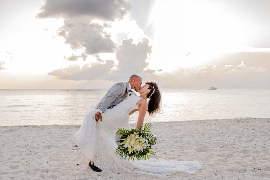 Creative Bridal Portrait Captured by Adventure Photos during Destination Wedding at Secrets Aura