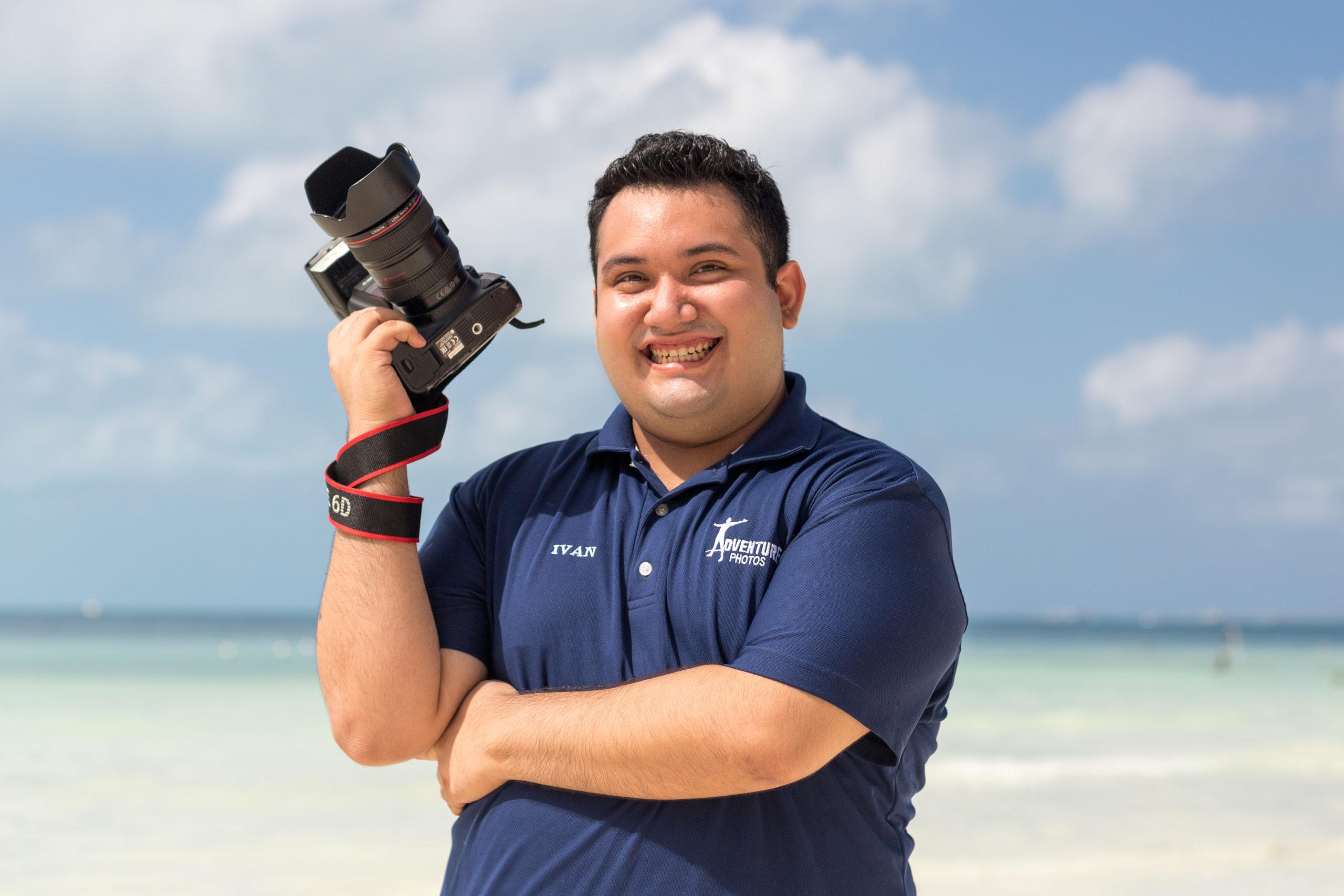 Portrait of Ivan Castelan, Photographer at Dreams Puerto Adventuras, Mexico