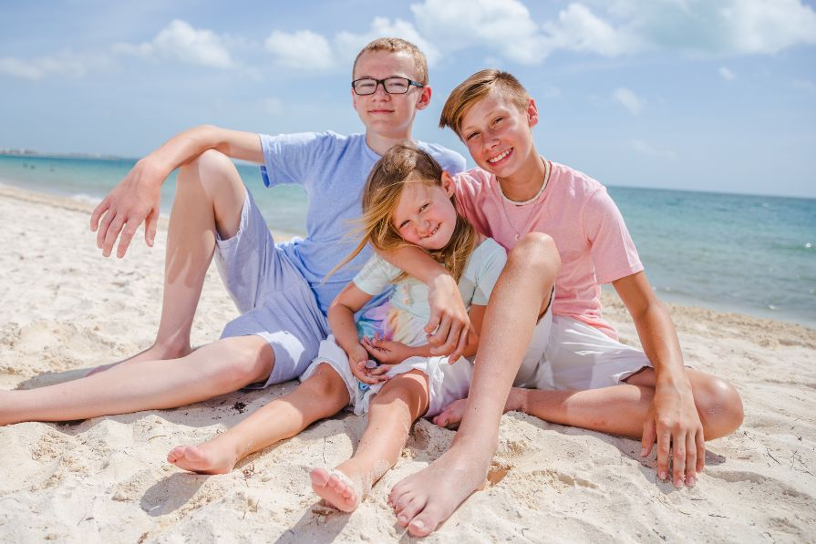 Family Lifestyle Photo Shoot on the Beach at Dream Playa Mujeres by Adventure Photos