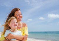 Mother and Daughter During Photo Shoot on Vacation at Dreams Playa Mujeres