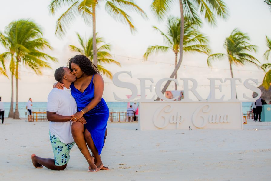 Romantic Couples Beach Photo Shoot at Secrets Cap Cana by Adventure Photos